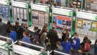 Crowds attend the   52nd BT Young Scientist & Technology Exhibition in the RDS which ends on Saturday.  Photograph: Alan Betson/The Irish Times