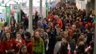 The 52nd BT Young Scientist & Technology Exhibition in the RDS finishes on Friday. Photograph: Alan Betson