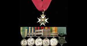 A set of seven medals given to Maj Gen William Lowe. Photograph: Spink