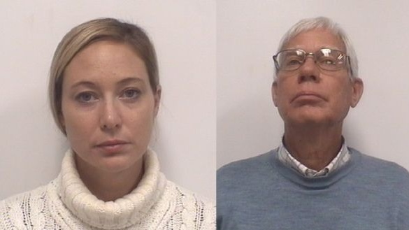 Mugshots of accused in Jason Corbett killing, Molly Martens Corbett and her father Thomas Michael Martens. Photograph: Davidson County