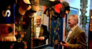 Shoah: Tomi Reichental at the coat dresser that he recovered from his childhood home in what was Czechoslovakia. Photograph: Cyril Byrne