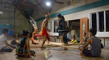 Dance and bamboo: a traditional Borneo performance