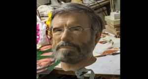 The wax model of Sinn Féin leader Gerry Adams in the studio of sculptor PJ Heraghty. The model will complete the Good Friday Agreement installation at the Dublin Wax Museum. Photograph: Brenda Fitzsimons/The Irish Times