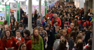 People at the 52nd BT Young Scientist & Technology Exhibition in the RDS.Photograph: Alan Betson/The Irish Times