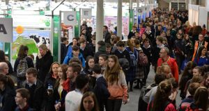 The 52nd BT Young Scientist & Technology Exhibition at the RDS. Photograph: Alan Betson/The Irish Times
