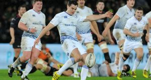Johnny Sexton was named man of the match as Leinster moved to the top of the Pro 12 table with a 9-22 win away at the Ospreys. Photograph: Inpho