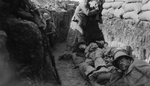 Royal Irish Fusiliers at Gallipoli in 1915. Photograph: Lt Ernest Brooks/IWM via Getty Images