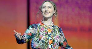 Actor Saoirse Ronan onstage at the 27th Annual Palm Springs International Film Festival   in Palm Springs, California. Photograph: Charley Gallay/Getty Images for PSIFF