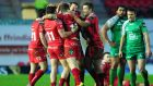 A late Steve Shingler penalty gave the Scarlets a 21-19 win over Connacht. Photograph: Inpho