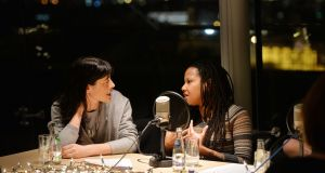 Lawyer Simone George and spoken word artist Clara Rose Thornton discuss their 'a-ha moments' at The Women's Podcast Nollaig na mBan event in The Irish Times on January 6th. Photograph: Alan Betson