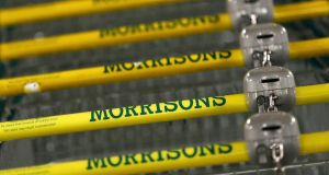Shares in British supermarket Morrisons rose 8.7 per cent rise after its sales figures beat forecasts. Photograph: Stefan Wermuth/Reuters