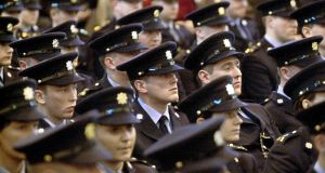 Graduating members of the Garda  in Templemore. File photograph: Alan Betson
