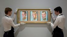 Three Studies for a Self-Portrait, oil on canvas, by Francis Bacon. Bacon's work routinely sells for millions – Three Studies of Lucien Freud sold for a record $142.4 million in 2013. Photograph: Sothebys/PA Wire