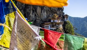 Impossibly photogenic: the Tiger's Nest, or Taktsang Palphug, monastery, Bhutan's most sacred site. Photograph: EyesWideOpen/Getty