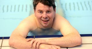 Malachy Clerkin: 'A nostril full of chlorine is the least I deserve.' Photograph: Dara Mac Dónaill