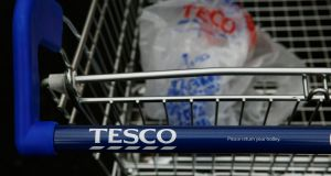 Tesco Plc climbed 6.1 percent after reporting its first sales growth in more than four years. Photograph: Luke MacGregor/Reuters