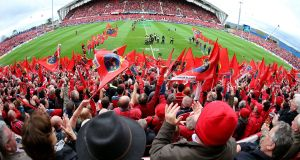 Munster supporters may baulk at the idea of renaming Thomond Park but the windfall could assist in the province's recruitment drive. Photograph: Dan Sheridan/Inpho