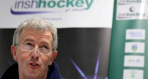 Mike Heskin: has left the Irish Hockey Association to become director of sport at NUI Galway. Photograph:Ryan Byrne/Inpho