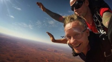Falling down under: skydive into Australia's Red Centre