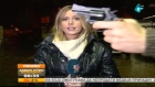 Gun flashed during live Serbian TV weather report
