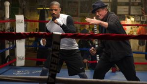 Michael B Jordan and Sylvester Stallone in Creed
