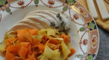 Give Me Five: Root vegetable ribbons with chicken and thyme