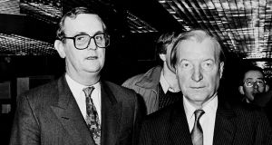 PJ Mara and  Charles Haughey: Mara's star was inextricably linked to the fortunes of the former taoiseach – political and otherwise. Photograph: Maxwell's