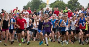 The Parkrun first took place at Bushy Park In London. Photograph: Neil Hall/Reuters