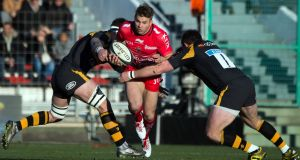 Toulon  winger Drew Mitchell: scored in the last play of the game to deny Wasps victory at the Stade Mayol. Photograph: Bertrand Langlois/AFP/Getty Images