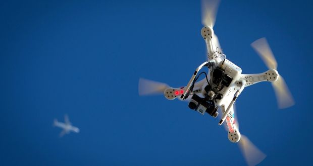 Since December 21st, drone registration has been mandatory in accordance with the Small Unmanned Aircraft (Drones) and Rockets Order (statutory instrument) S.I. 563 of 2015. File photograph:  Carlo Allegri/Reuters