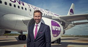 Wow Air chief executive Skúli Mogensen: the airline is already flying from Dublin to Logan Airport in Boston and Baltimore, via Reykjavik