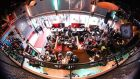 Bird's-eye view: conference attendees gathering in Groningen last weekend