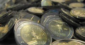4.5 million coins were minted to mark the centenary of the 1916 Easter Rising. Photograph: Jason Clarke/Central Bank