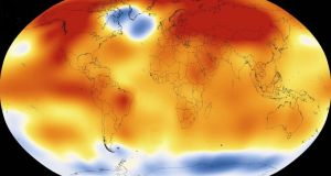 2015 was the warmest year since modern record-keeping began in 1880, according to a new analysis by Nasa - 15 of the 16 warmest years on record have now occurred since 2001. Photograph: Scientific Visualization Studio/Goddard Space Flight Center