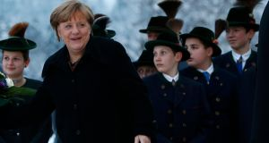 German Chancellor Angela Merkel  arrives for the Christian Social Union (CSU) meeting in the southern Bavarian resort of Wildbad Kreuth. Michaela Rehle/Reuters