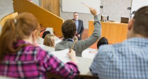 Attendance rates for lectures at third-level are falling as students increasingly opt to rely on notes posted online by their lecturers, an Oireachtas committee has heard. File photograph: Getty Images/Wavebreak Media
