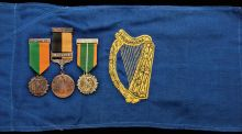 Medals awarded to Seán T O'Kelly, one of the Volunteers who was in the GPO and who later became the second president of Ireland, will be auctioned in New York next Thursday, with an estimate of $12,000-$15,000