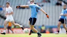 Dublin minor Tom Fox is one of the driving forces behind St. Benildus excellent run so far. Photograph: James Crombie/Inpho