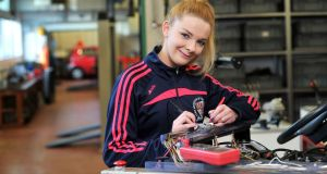 Gemma Linehan at CIT, where she is studying as an apprentice mechanic. Photograph: Daragh McSweeney/Provision