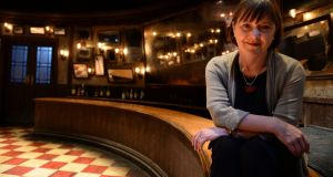 Anne Clarke on the set of Once the Musical in the Olympia Theatre, Dublin in 2015. Photograph: Dara Mac Dónaill