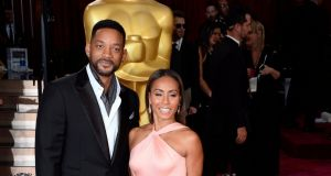 Will Smith  and  Jada Pinkett-Smith on the red carpet in Hollywood, California, US. File photograph: Paul Buck/EPA
