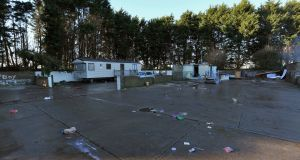The Woodland Park unofficial halting site in Dundalk, Co Louth from where several traveller families have been evicted. Photograph: Colin Keegan, Collins Dublin