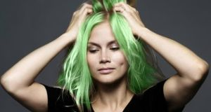 Women in a rural part of Co Cork have apparently seen their hair turn a green hue after washing it. File photograph: Getty Images