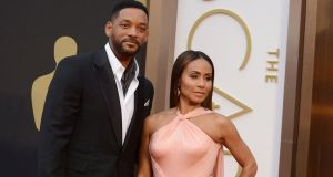 Will Smith, left, and Jada Pinkett Smith will join others in protest against two straight years of all-white acting nominees. Photograph Jordan Strauss/Invision/AP