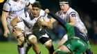 Ulster's Nick Williams in action against Connacht. Photograph: Dan Sheridan/Inpho