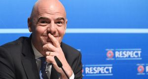 UEFA General Secretary Gianni Infantino is  hoping to replace Sepp Blatter as president of Fifa. Photograph: Alain Grosclaude/AFP/Getty Images