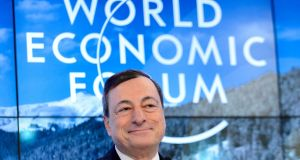 President of the European Central Bank Mario Draghi:  many viewed  his comments  on Thursday as  signalling  further stimulus measures could be unveiled in March. Photograph: Fabrice Coffrini/AFP/Getty Images
