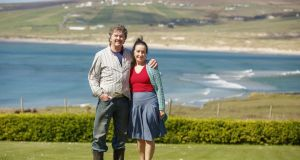 Colm and Gabielle Henry live at Glengad, Co Mayo. Their home overlooks Sruwaddacon Bay and  the pipeline's landfall. Photograph: Keith Heneghan