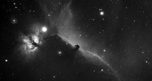 The Flame Nebula and Horsehead Nebula photographed from Glasnevin, Dublin by John Dolan