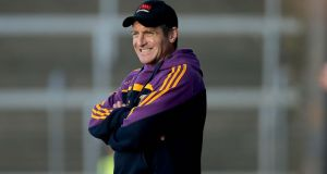 Liam Dunne was pleased with how his Wexford side coped in grim conditions against Offaly. Photograph: Inpho